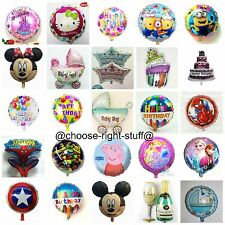 HAPPY BIRTHDAY ROUND FOIL BALLOONS ALL COMIC CHARACTERS foil balloons baloon