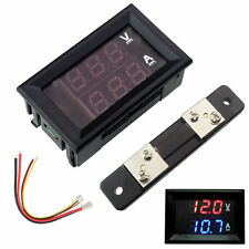 DC 100V 10A 50A 100A Digital LED Current Voltage Panel Meter Voltmeter Ammeter
