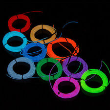 1pcs 1M x 2.3mm LED Flash Flexible Neon Light Glow EL Tube Wire Rope Car Party