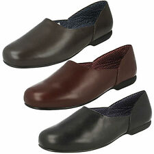 MENS CLARKS SLIP ON LEATHER WARM SMART INDOOR SLIPPERS SHOES HARSTON LOUNGE