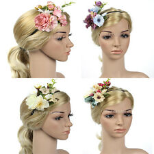 Boho Women Flower Girl Fairy Flower Leaves Wedding Party Hair Headband Band Hoop