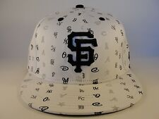 MLB San Francisco Giants New Era 59FIFTY Fitted Hat Cap Multililallo White Black