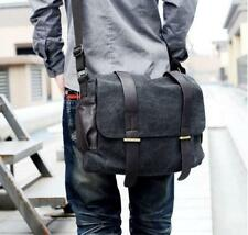 Mens womens  Casual denim Canvas Backpack School Shoulder Bag Messenger Bag