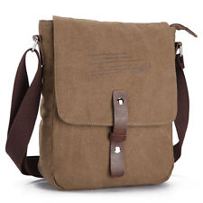 Men's Casual Canvas Shoolbag Satchel Shoulder Crossbody Messenger Business Bag