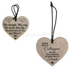 MagiDeal Wooden Wall Plaque Wine Tags Shabby Chic Heart Sign Mum & Me Friendship