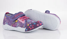 Girls Canvas shoes with velcro/laces trainers size 7,5 - 11,5