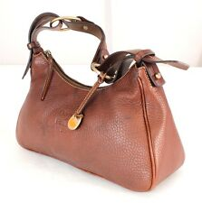 Authentic Dooney & Bourke Brown AWL Leather Shoulder Bag Purse  Handbag