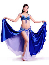 Performanc​e Belly Dance Costume 3PCS Bra&Belt&Skirt 34B/C 36B/C 38B/C 8 colors