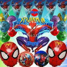 SPIDERMAN Balloons Avengers Marvel Heroes Shower Birthday Party Supplies lot A