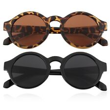 Unisex Vintage Retro Women Men Glasses Vintage Round Mirror Lens Sunglasses XFR