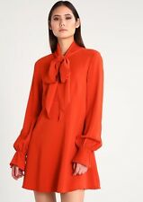 RACHEL ZOE KASSIDY DRESS SZ 2,4,6 ORANGE SHIFT ZIP MINI LONG SLEEVE NWT LASTONES