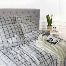 Merryfeel yarn dyed cutting check Duvet Cover Set 100% Cotton