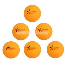 40mm Table Tennis Balls Ping Pong Practice Balls Yellow/White - Pack of 6