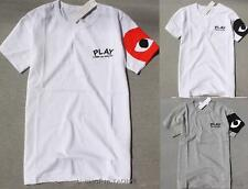 Men's Comme Des Garcons CDG Play Eyes Lovely Heart Short women's T-shirts S-XL