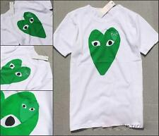 MEN'S COMME DES GARCONS CDG PLAY BIG GREEN HEART CLASSIC WOMEN'S T-SHIRT 4SIZE