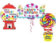 CANDY LOLLIPOP GUMBALL MACHINE BALLOONS BIRTHDAY PARTY DECORATIONS CANDY BAR