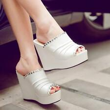 Fashion Stylish Hot Ladies summer sandals slippers wedge high heels shoes size