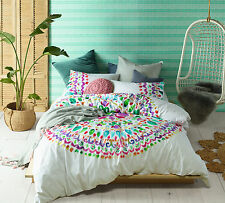 Accessorize Loving Life 100% Cotton Mandala Quilt Doona Cover Set - QUEEN KING