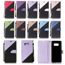 Magnetic Flip Stand Strap Wallet PU Leather Case Cover For Samsung S6 S7 Edge S8