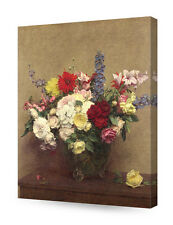 DecorArts The Rosy Wealth of June By Henri Fantin Latour Painting Reproduction