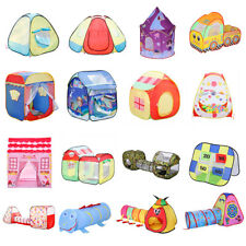Portable Baby Kids Indoor Outdoor Play Tent House Tunnel Castle Balls Toy Gifts