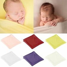 Newborn Baby Photography Prop Stretch Wrap Soft Cotton Baby Swaddle Wrap Blanket