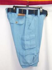 Cargo SHORTS Blue MENS Knee Length NAVY Web BELT Walking Urban Pipeline NWT $40