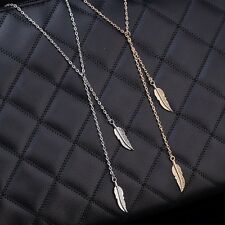 Gold And Silver Plated Necklace Tassel Feather Chain