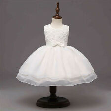 Abby Baby Bow Lace Flower Girl Formal Dress Christening Wedding Party Bridesmaid