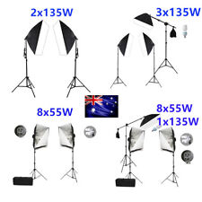 Photo Studio Softbox Continuous Lighting Bulbs Soft Box Boom Arm Light Stand Kit