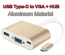 USB 3.1 Type-C to VGA OTG HUB USB 3.0 Power Charging Adapter For Apple Macbook