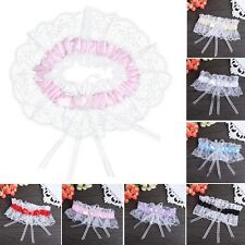 Wedding Bridal Garter Set Lace Ruffle Crystal Heart Satin Toss Garter Bowknot