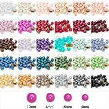 3/4/6/8/10/12/14mm Glass Pearl Spacer Beads Round Crafts Jewellery Making DIY