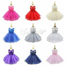 Pageant Flower Girl Dress Kids Birthday Wedding Bridesmaid Gown Formal Dresses