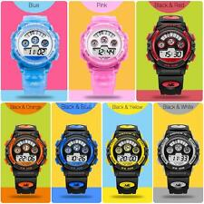 HOSKA Children Boy Girl Wristwatch Alarm Backlight Stopwatch Sports Watches N6L8