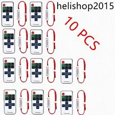 12V RF Wireless Remote Switch Controller Dimmer for Mini LED Strip Light 10pc GF