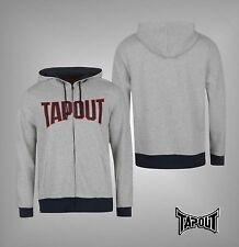 Mens Branded Tapout Long Sleeves Soft Cotton Full Zip Gym Hoody Top Size S-XXL