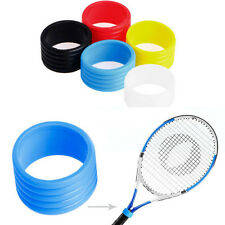 5pcs Colorful Racket Handle's Rubber Ring Tennis Racquet Band Overgrip Protector