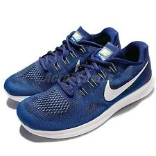 Nike Free RN 2017 Run Blue White Men Running Shoes Sneakers Trainers 880839-401