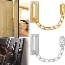 Home Stainless Steel Security Slide Bolt Door Chain Lock Guard Silver/Gold Tone