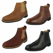 MENS ANATOMIC GEL CARDOSO SLIP ON CASUAL BROWN BLACK LEATHER CHELSEA ANKLE BOOTS