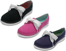 """LADIES CROCS """"MELBOURNE II"""" LACE UP CASUAL CANVAS SUMMER SHOES IN IN 3 COLOURS"""