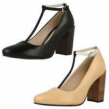 SALE LADIES CLARKS T BAR POINTED TOE ANKLE STRAP SHOES CRUMBLE BERRY
