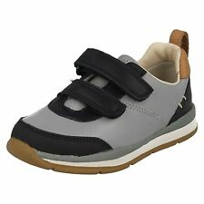 INFANT BOYS CLARKS LEATHER RIPTAPE CASUAL WALKING FIRST SPORTS SHOES FERRIS CAP