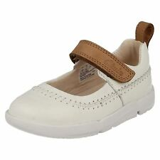 GIRLS INFANT CLARKS LEATHER RIPTAPE FIRST WALKING MARY JANE PUMP SHOES TRI ATLAS