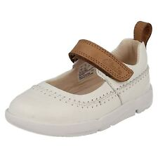 GIRLS INFANT BABY CLARKS RIPTAPE FIRST WALKING MARY JANE LEATHER SHOES TRI ATLAS
