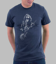 LED ZEPPELIN Rock Band Graphic T-shirt Jimmy Page on Guitar Rock Shirts