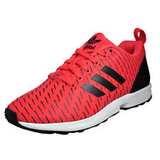 Adidas Originals ZX Flux Mens Classic Casual Fitness Gym Trainers Red