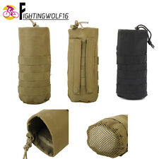 Tactical Cycling MOLLE Water Bottle Pouch Open Top with Mesh Bottom Outdoor Bag