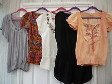 Ladies Embroidered Hippy Boho Festival Gypsy Semi Fitted Size 10 12 Tunic Top